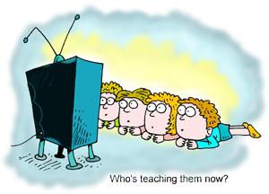 Quand la télé remplace l'éducatrice.